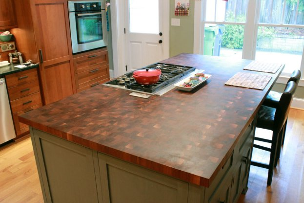 Walnut End Grain San Diego - The Countertop Company